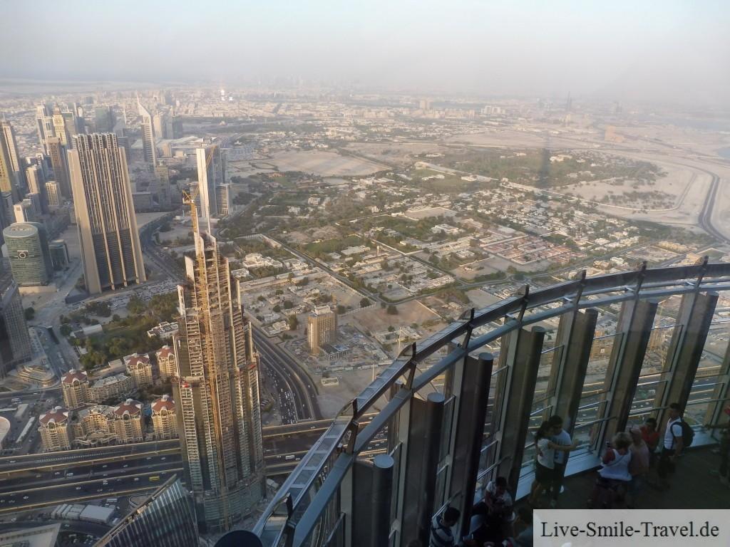 Blick Wüste Burj Khalifa