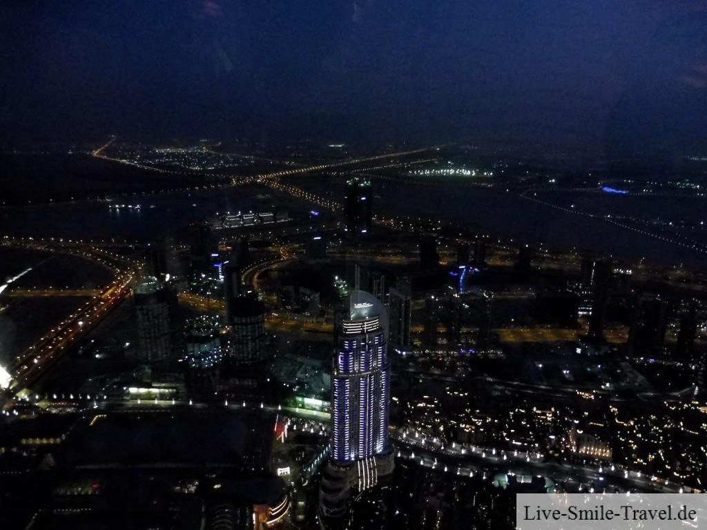 Blick Burj Khalifa nachts