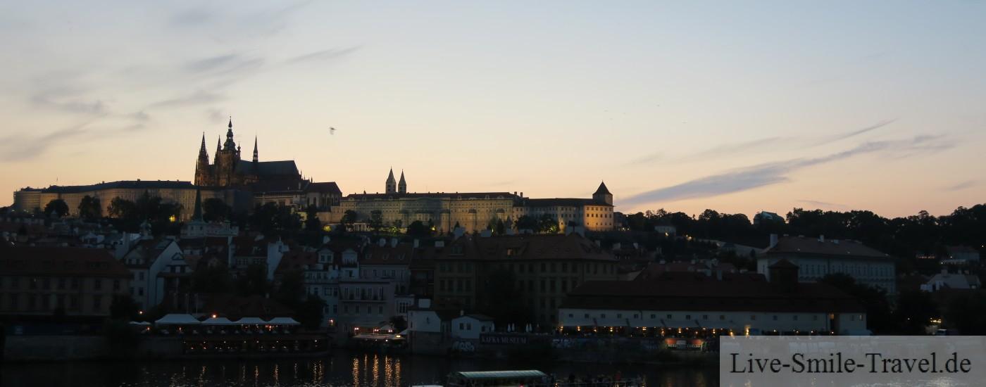 Nacht Burg Prag